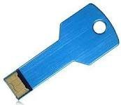 8GB Metal Key USB 2.0 Flash Disk Drive Blue by ZUBER