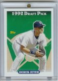 2006 Topps Derek Jeter Rookie of The Week Baseball Card - Mint Condition- Shipped In Protective Screwdown Case!