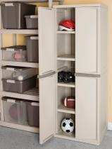 Sterilite 4-Shelf unity cabinet with putty handles