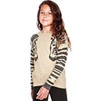 Cotton Rich Animal Print Jumper