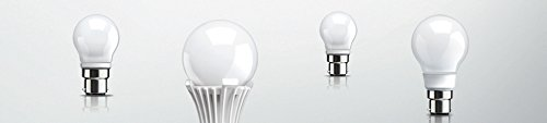 3W B22 LED Glass Bulbs (Cool Daylight, Pack of 5)