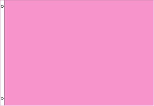 Pink SOLID COLOR Flag - 3 foot by 5 foot Polyester (NEW)