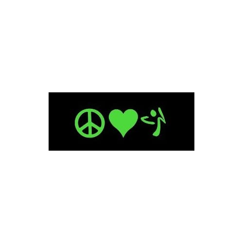 2x 10 peace love zumba big 10 stickers for Amazon gelbsticker