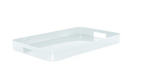 Zak Designs 1313-0021 Plateau Gallery Nouveau Design Blanc 53,5 X 34,5 cm
