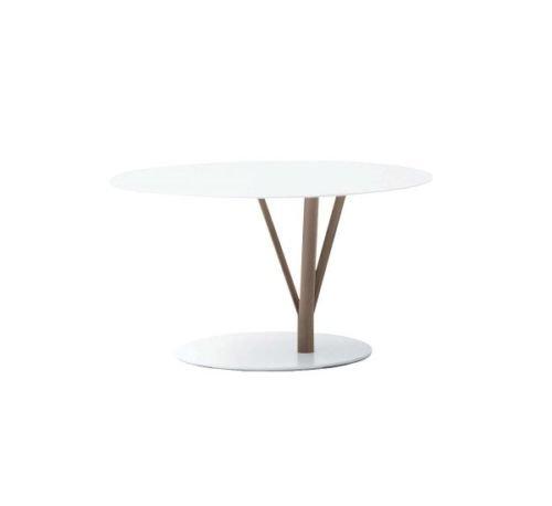 BONALDO tavolino Kadou Coffee Low bianco e marrone acciaio da caffè sala D6 82