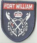 FORT WILLIAM SCOTLAND CREST FLAG WORLD EMBROIDERED PATCH BADGE