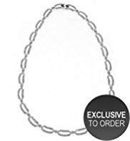 M&S Collection Platinum Plated Gatsby Collar Necklace
