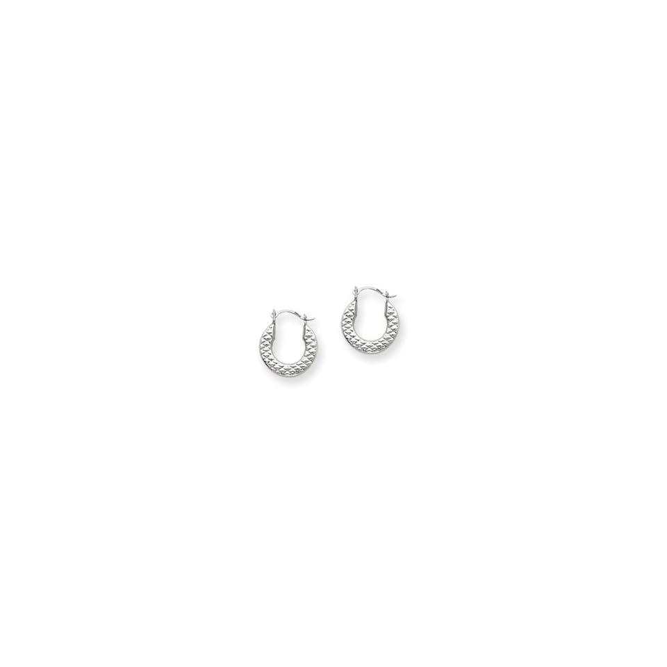 14k Gold White Gold Hoop Earrings Jewelry