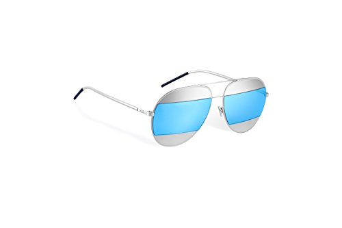 Christian-Dior-Split-1-Silver-with-blue-mirrored-lenses-color-010-3J-Size-59