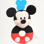 Mickey and Minnie Mouse Plush Shake Me Round Rattle