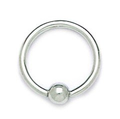 14k White Gold 14 Gauge Circular Body Piercing