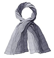 Classic Lightweight Pleated Ombre Scarf