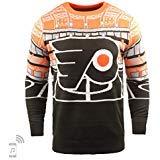 NHL Philadelphia Flyers Mens Light Up Bluetooth Speaker Sweaterlight Up Bluetooth Speaker Sweater, Team Color, X-Large