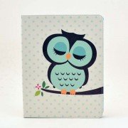 PU Leather Case with Cute Owl Pattern for iPad 2,3,4