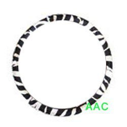 Animal Print Steering Wheel Cover - Zebra