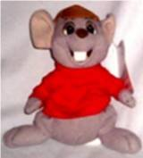 Disney the Rescuers Bernard the Mouse 7-8 inches tall Beanbag Beanie Bean Bag Plush Toy Collectible - 1