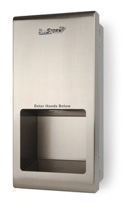 BluStorm2 Recessed High Speed Hand Dryer, Automatic, Stainless Steel, 110/20 Volt by Palmer Fixture