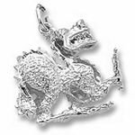 Rembrandt Charms Dragon Charm - Sterling Silver