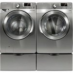 Samsung Stainless Platinum Steam Washer & Gas Steam Dryer (WF448AAP_DV448AG ....