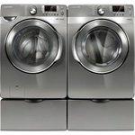 Samsung Stainless Platinum Steam Washer & Electric Steam Dryer (WF448AAP_DV ....