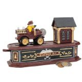 Design Toscano Fire Engine Station Number One Collectors Mechanical Coin Bank