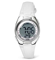 M&S Collection Round Face Digital Sports Watch