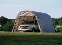 Big Sale Shelter Color: Grey, Size: 8' H x 8' W x 24' D