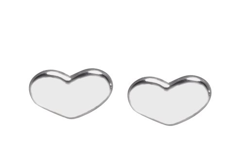 Sterling Silver Heart Earrings From the Edge Collection By Mauricio Serrano Jewelry