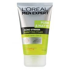 ロレアルメン エキスパート ピュア&マット L'Oreal Men Expert Pure & Matte Acno Striker Purifying Foam, 100ml 3.4oz