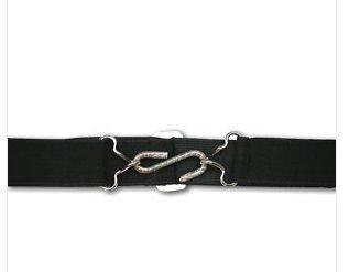 """Elastic kids snake belt - 1"""" (25MM) Wide elastic belt - Various Colours. (Black)"""