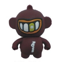 4GB Baby Monster USB 2.0 High Speed Silicon Flash Memory Drive Disk Stick Pen Support Windows and MacOS Great Gift (4GB BROWN) by EASYWORLD