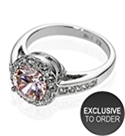 M&S Collection Platinum Plated Diamanté Roulette Ring