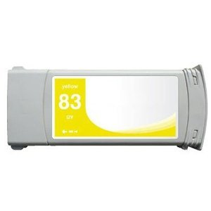 Remanufactured HP 83 (C4943A) Ink Cartridge for HP Designjet 5000 / 5000ps UV / 5500UV, Pigment Yellow