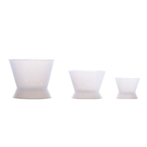 3pcs-set-new-flexible-dental-lab-silicone-mixing-cup-acrylic-nonstick-bowl-dappen-dish