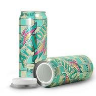 STASH SAFE CAN JUICE 23 FL OZ ARIZONA LEMON ICED TEA with Free BakeBros Silicone Container and Sticker (Secret Soda Can compare prices)