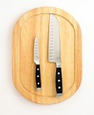 Martha Stewart Collection Triple Riveted 2 Knife & Cutting Board Set