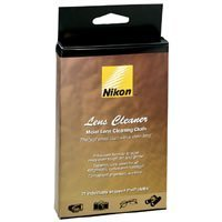 Nikon Moist Lens Cleaner Cloths, Pack of 21.
