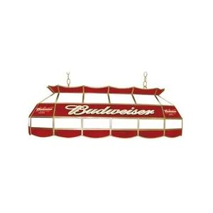 adg source budweiser stained glass pool table light on. Black Bedroom Furniture Sets. Home Design Ideas