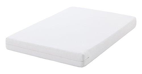 Oasis - Coprimaterasso antibatterico, 100% cotone, colore: bianco 160 x 200 cm bianco