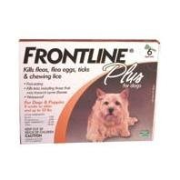 Frontline Plus For Dogs 0-22 Lb, 6 Pk