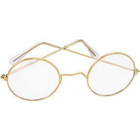 Round Wire Rim Glasses Costume Accessory
