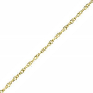 9ct Yellow Gold 18 Inch Prince of Wales Rope Chain