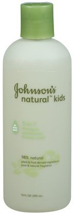 Johnson's Kids Natural 3-in-1 Shampoo, Conditioner And Body  Wash, 10-Ounce (Pack of 2)