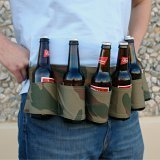 Fairly Odd Novelties BEERBELT 6-Pack Camo Beer Holster Belt