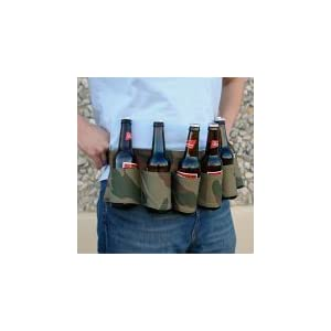 Camouflage Six-Pack beer Holster Belt - Camo gag gifts