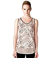 Limited Collection Scribbled Daisy Print Camisole Top