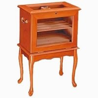 Cheap End Table Humidor – Hold up to 500 cigars. Cherry wood color (B003FR40LK)