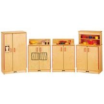 5 Piece Natural Birch Kitchen Set - Assembled