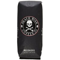 Death Wish Whole Bean Coffee, The World's Strongest Coffee, Fair Trade and USDA Certified Organic - 16 Ounce Bag Thank you for using our service