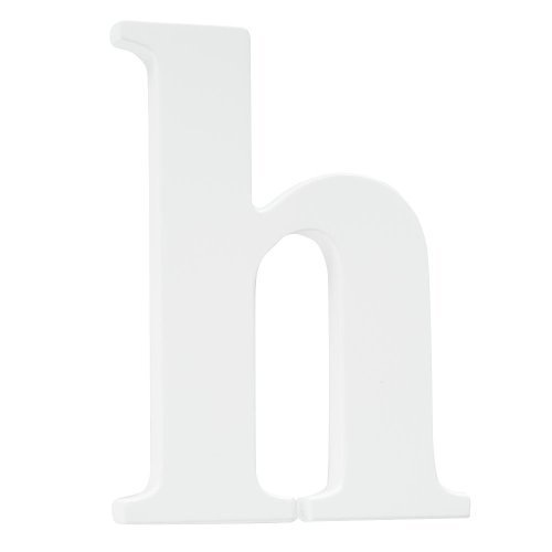 Koala Baby Lowercase Wall Letter H - White